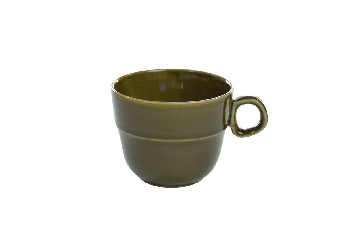マグカップ緑釉